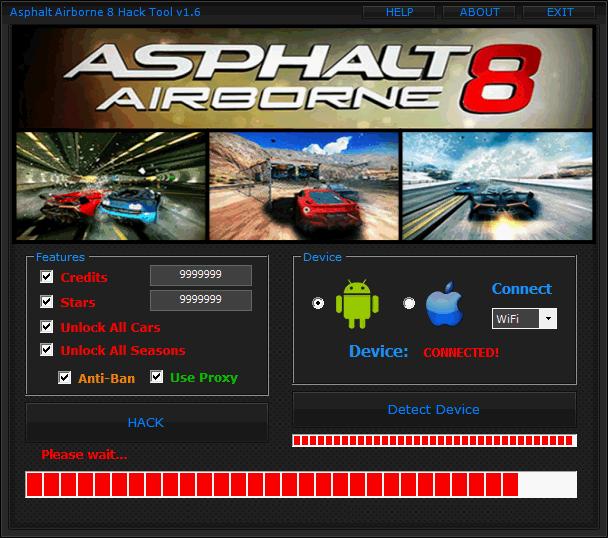 asphalt 8 airborne cheats hack tool v4.03