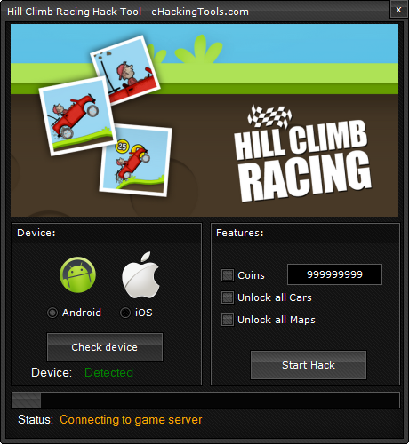 Hill Climb Racing Cheats HACK TOOL NO SURVEY1
